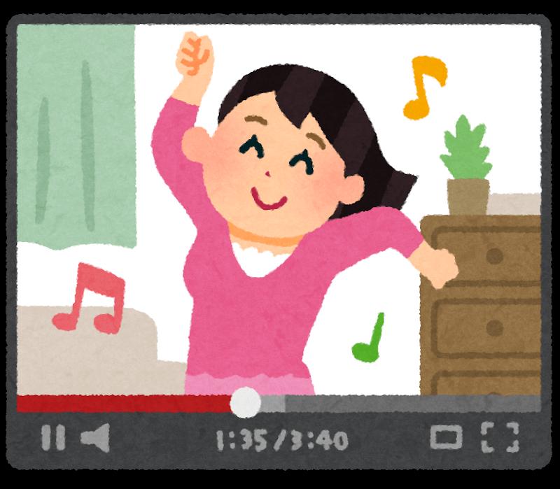 踊る女性の動画